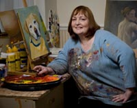 Ros Callander in her Studio