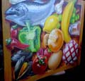 Crate of Food Trompe L'oeil by Mandy Wu