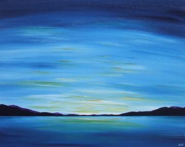 Blue Lakeland Sunset