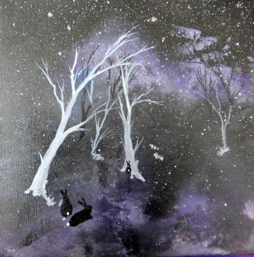 Midnight Snow Hares