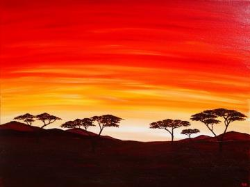 African Plains Sunset