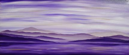 Purple Misty Mountains