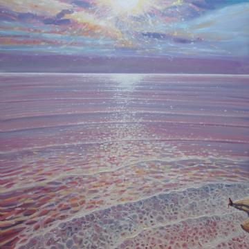 A New Perspective - sunset seascape painting