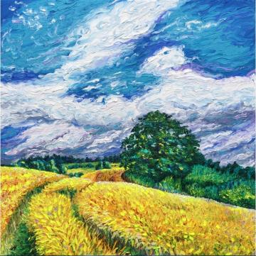 Summer Fields (Finger painting)