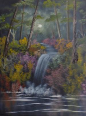 Moonlight Waterfall
