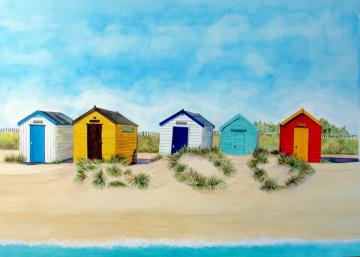 Southwold Huts and Sand Dunes