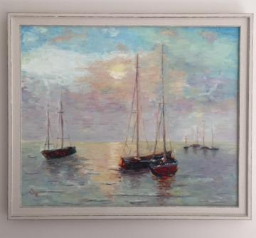Boats. Sunrise.