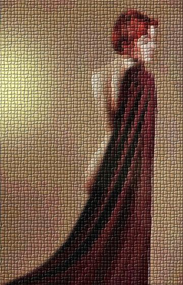 Red Riding Hood in Mosaic