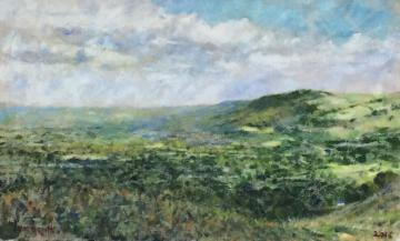 view of Otley Chevin from Ilkley Moor     (2016)