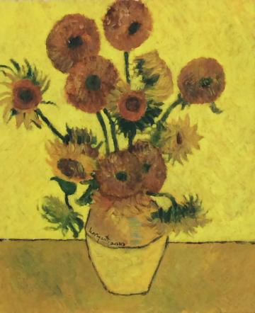 Sunflowers  (after Van Gogh)    (2010)