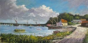Thames Barges at Pin Mill.