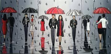 umbrellas and the rain - large