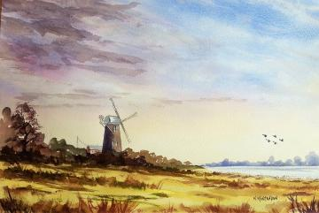 Ref A3  'Norfolk Windmill'