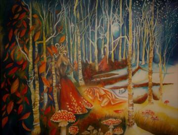 Fantasy Fly Agaric Dryad Forest