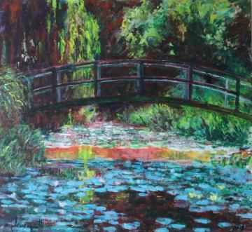 Japanese bridge 1. After Monet