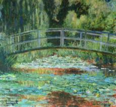 Japanese bridge 3. After Monet
