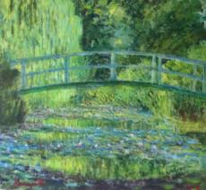 Japanese bridge 2. After Monet