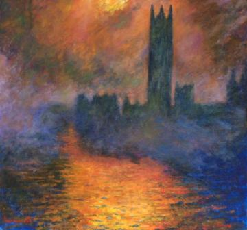 Houses of Parliament. After Monet