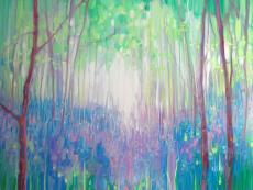 Bluebell Invasion - a spring woodland abstract with bluebells