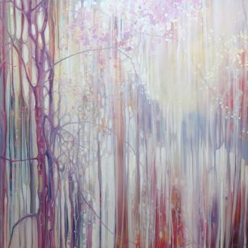 Shimmering Spring - a landscape paintings with blossom