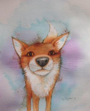 Nosey Fox A3 Print