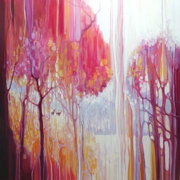 Waiting - an autumn forest landscape