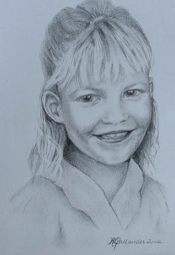 Holly - a pencil portrait