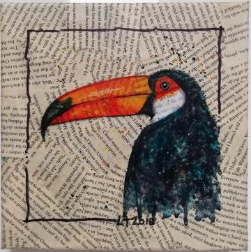 Toucan - Acrylic/mixed media