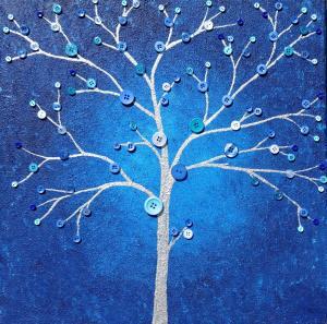 Contemporary Blue Tree