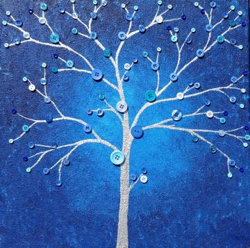 Contemporary Blue Tree