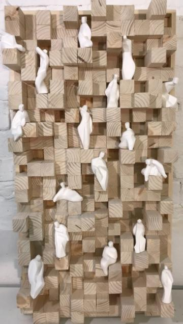 Mixed Material Wall Sculpture