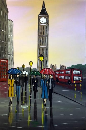 Purple London Sunset 2