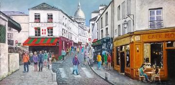 Rue Norvins Montmartre Paris.
