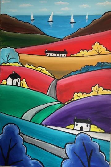 Vibrant Colourful Hills