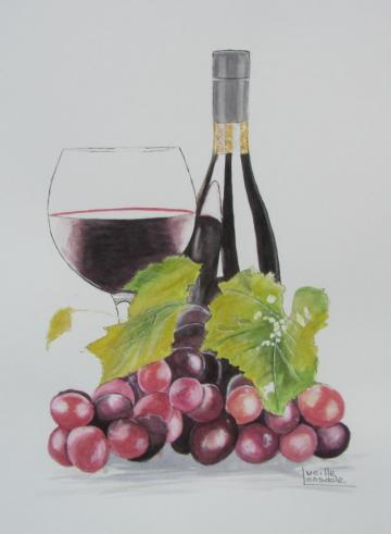 Red Wine & Grapes