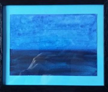 A STORM IS BREWING Original framed painting ( poem included)