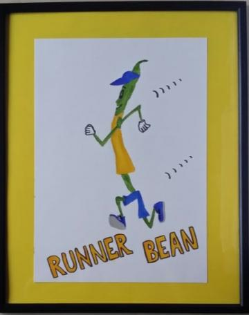 RUNNER BEAN Original Painting ( poetic description included)