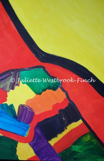 Fuse the Dichotomies (Original 20 x 30 Inch on Heavy Watercolour Board