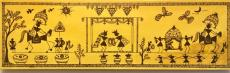 The wedding scene in Warli art