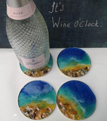C9, Resin Coasters, Coasters,  Coaster Set, wedding gift, birthday pre