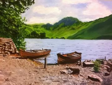 Boats at Buttermere, Lake District
