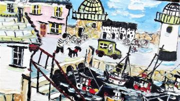 FISHING BOATS IN ST IVES