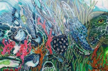 A52,  abstract art, art on canvas, jeannie zelos, acrylics, swipe pain
