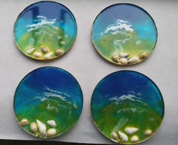 c35, hand made coasters, resin coasters, table protectors, unique gift