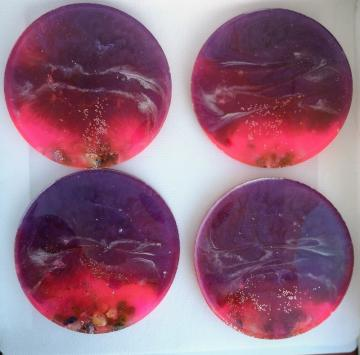 beach style resin coasters, table protectors, unique gifts c33