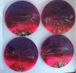 beach style resin coasters, table protectors, unique gifts c34