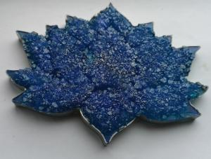 resin geode lotus flower, coaster, trinket tray, rolling tray, jewelle