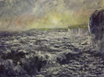 Stormy sea at Flamborough