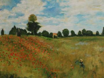 Poppies near Argenteuil (after Monet)