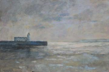 Scarborough lighthouse, Winter sky     (2021)